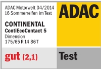 Sommerreifen Continental EcoContact 5 175/65R14 T