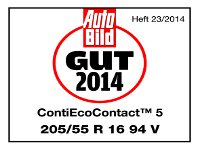 Sommerreifen Continental EcoContact 5 205/55R16 V