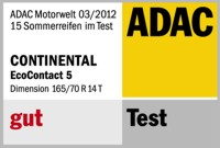 Sommerreifen Continental Eco Contact 5 165/70R14 T