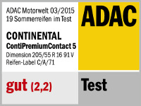 Sommerreifen Continental PremiumContact 5 205/55R16 V