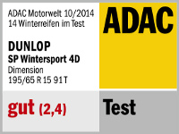 Winterreifen Dunlop SP WINTER SPORT 4D 195/65R15 T