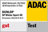 Winterreifen Dunlop SP Winter Sport 4D 205/55R16 H