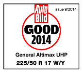 Summer tyres General Altimax UHP 225/50R17 W