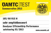 Sommerreifen Goodyear Efficient Grip Performance 185/60R15 H