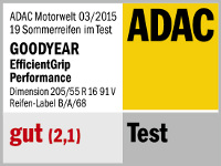 Sommerreifen Goodyear Efficient Grip Performance 205/55R16 V