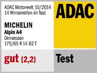 Winterreifen Michelin ALPIN A4 175/65R14 T