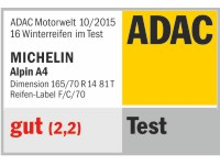 Winterreifen Michelin Alpin A4 165/70R14 T