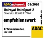 Sommerreifen Uniroyal RainSport 2 225/45R17 W