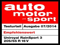 Sommerreifen Uniroyal RainSport 3 205/55R16 V